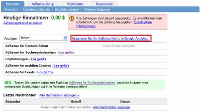 Google AdSense & Analytics Integration